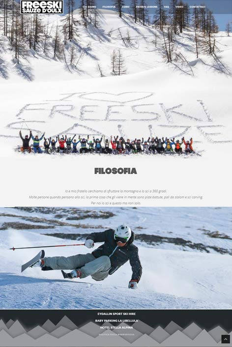 Freeski Sauze  website  design by Alps Creative