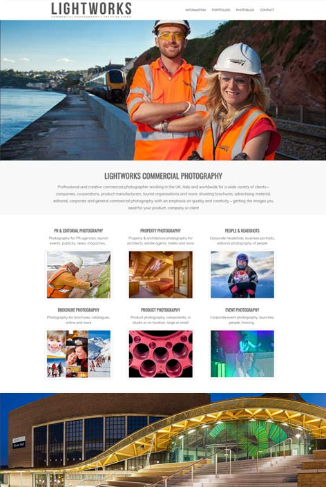 Lightworks Photography  website  design by Alps Creative