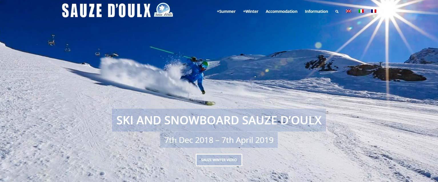 Sauze d'Oulx ski resort website, website  design by Alps Creative