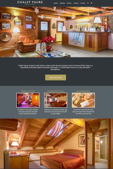 Hotel Chalet Faure, Sauze d'Oulx  website  design by Alps Creative